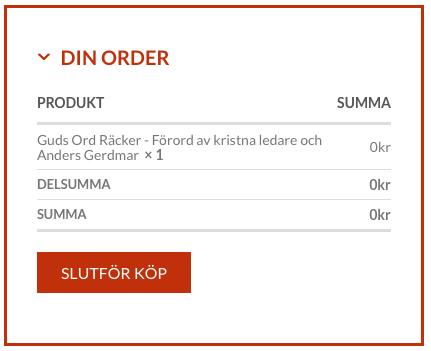 """Fyll i dina adressuppgifter Klicka """"Slutför Köp"""""""
